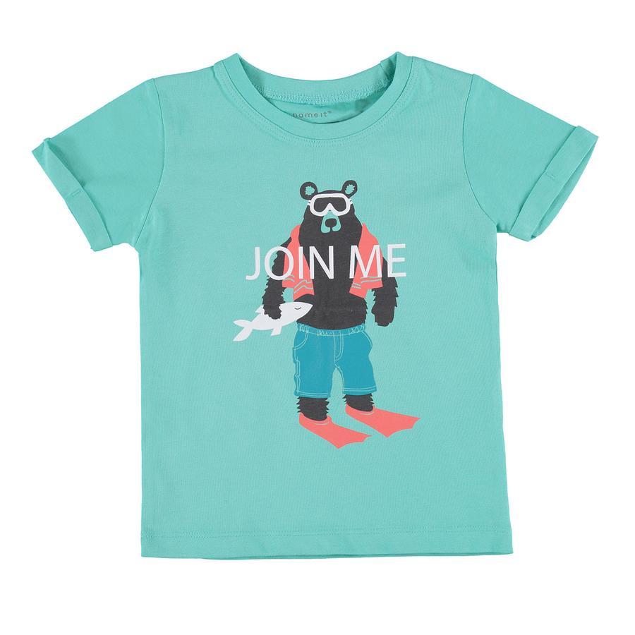 name it Boys T-Shirt Victor zwembad blauw