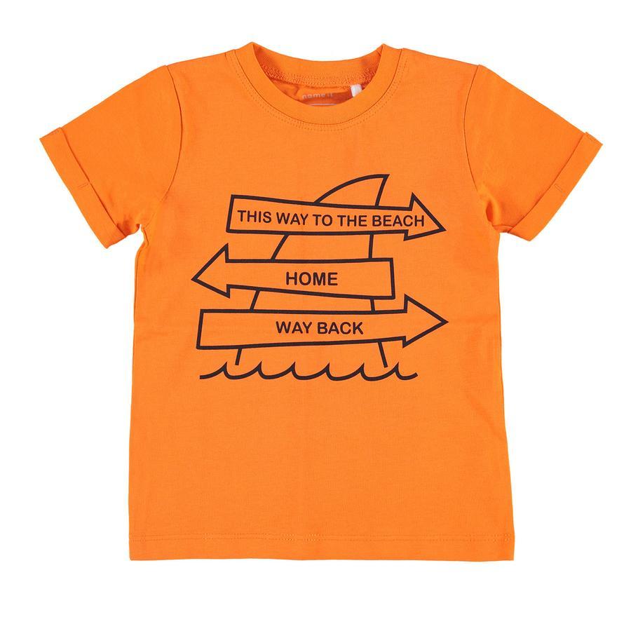 name it Boys T-Shirt Victor schokkend oranje