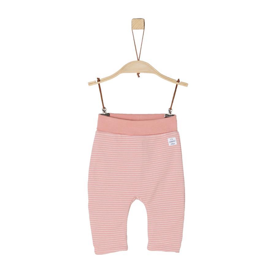 s.Oliver Girl s Odwracalne legginsy, pyliste różowe paski.