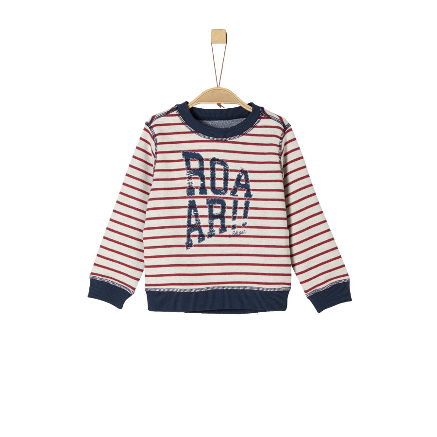 s.Oliver Boys Sweat-shirt à rayures beiges