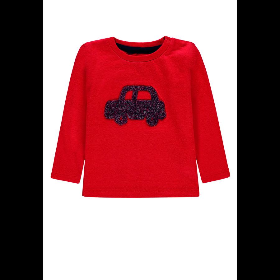 TOM TAILOR Chlapecké tričko s dlouhým rukávem, červené