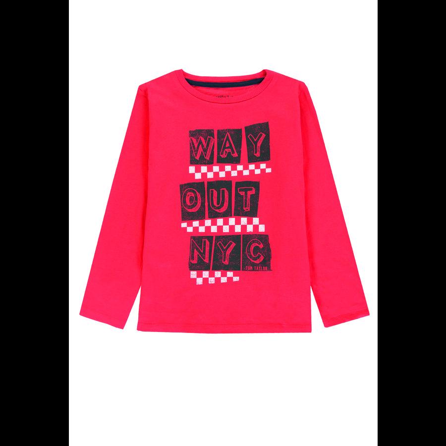 TOM TAILOR Boys camicia manica lunga, rosso