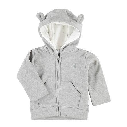 LITTLE Soft Giacca in jersey con ricamo a orso e cappuccio
