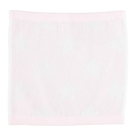 LITTLE Handduk Frotté 30x30 cm, rosa stjärnor