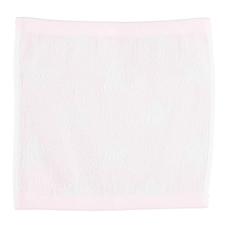 LITTLE Babyhandtuch Frottier 30x30 cm Sterne rosa