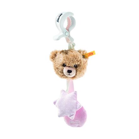 Steiff Schlaf-gut-Bär Kinderwagenspielzeug rosa