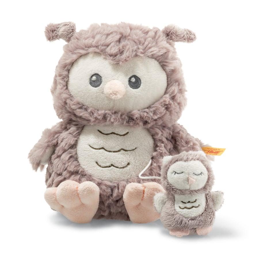Steiff Soft Cuddly Friends Spieluhr Eule Ollie, 21 cm