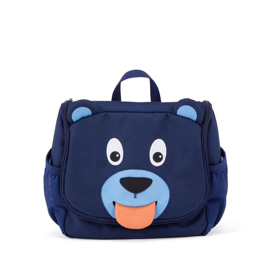Affenzahn Trousse de toilette Bobo l'ours, bleu