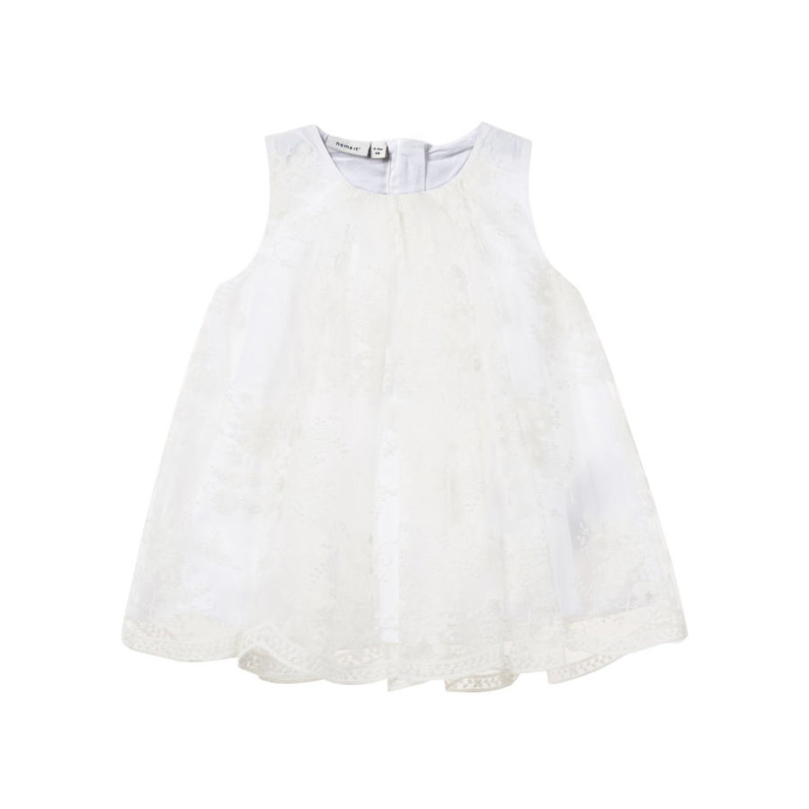 NAME IT tyttöjen Dress Sille, b oikea valkoinen