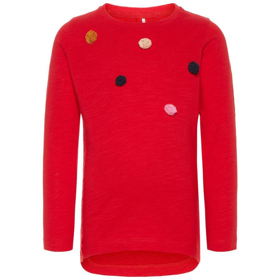 name it Langermet skjorte Nmfnadotine ekte rød
