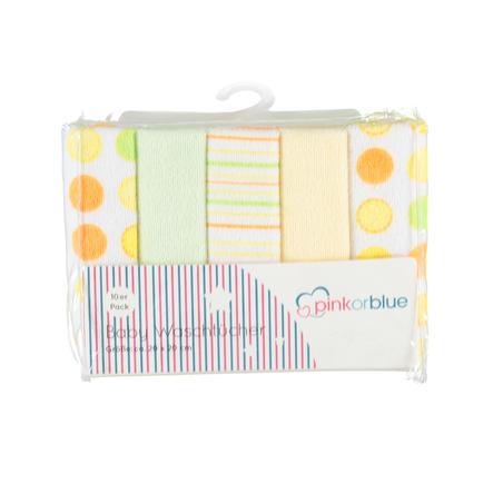 HÜTTE &   CO-pyyhekangaspakkauksessa 10 keltaista