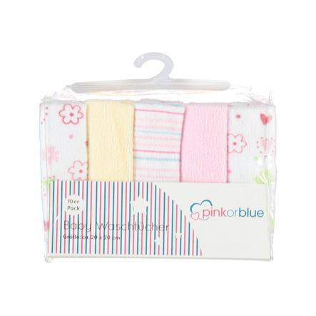 HÜTTE & CO toallitas  Paquete de 10 rosa