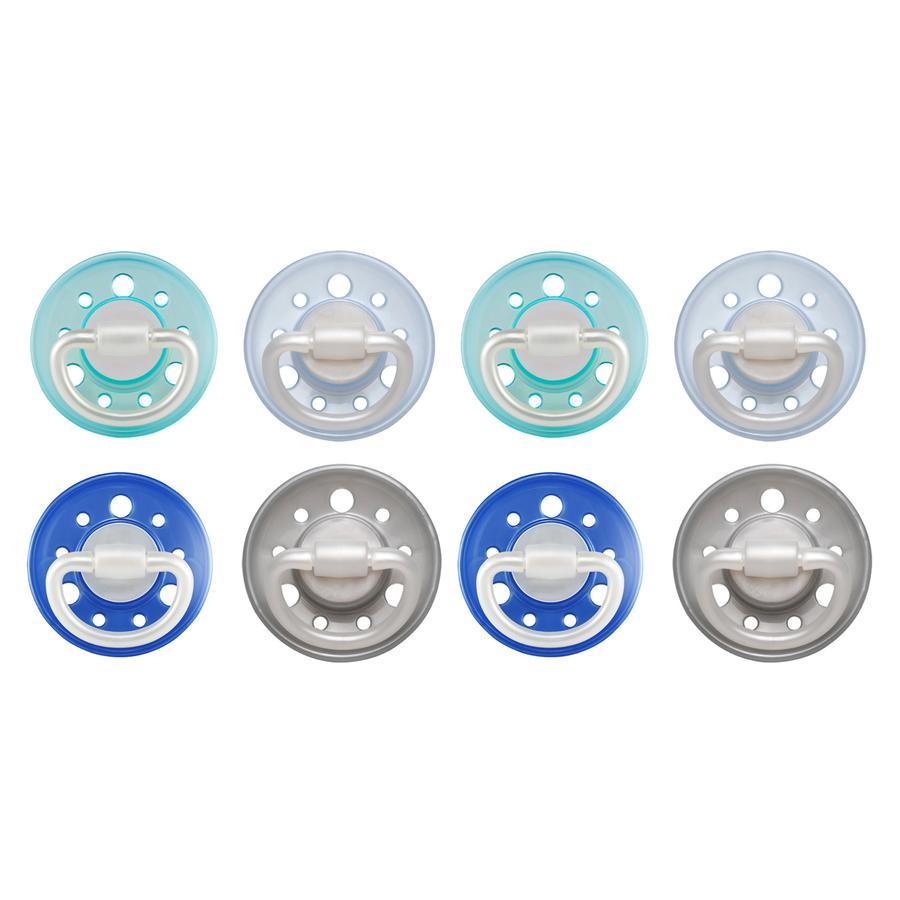 nip Dummy Cherry turchese/blu/grigio/azzurro Lattice misura 1 0 - 6 mesi 8 pezzi