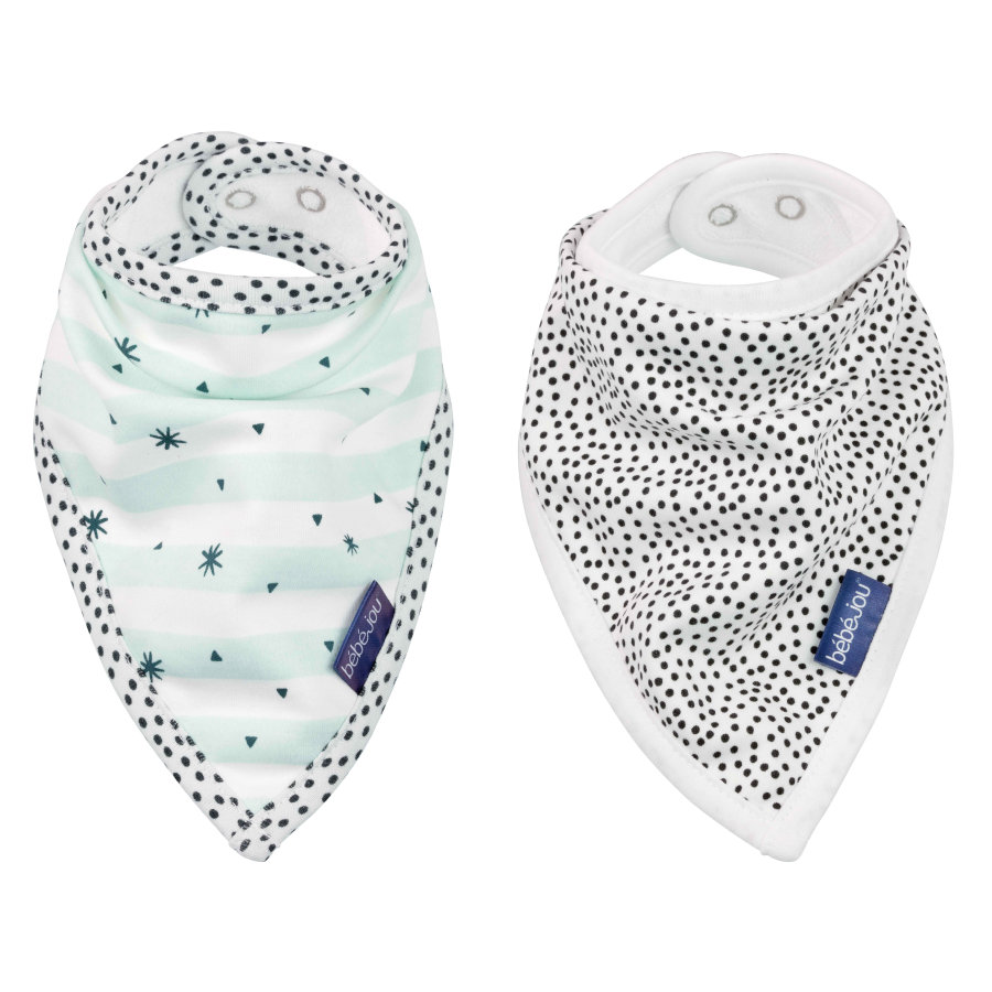 bébé jou® Bandana Smekke Hello Little One 2-pack