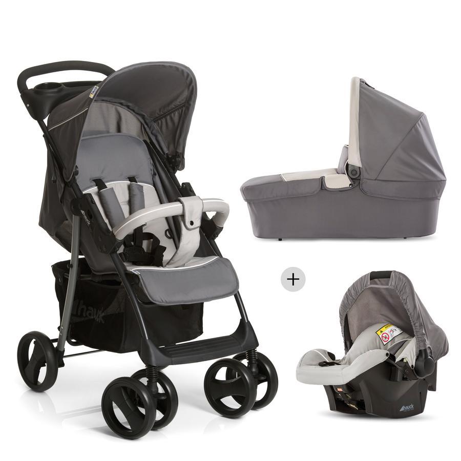 HAUCK Passeggino Set Trio Shopper SLX stone/grey, colore grigio