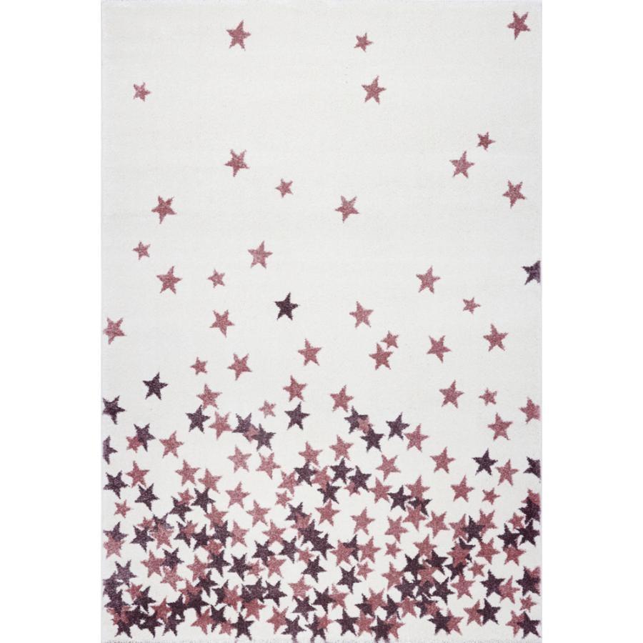 LIVONE Tapijt Kids Love Rugs Sterrenregen creme/roze 160 x 220 cm