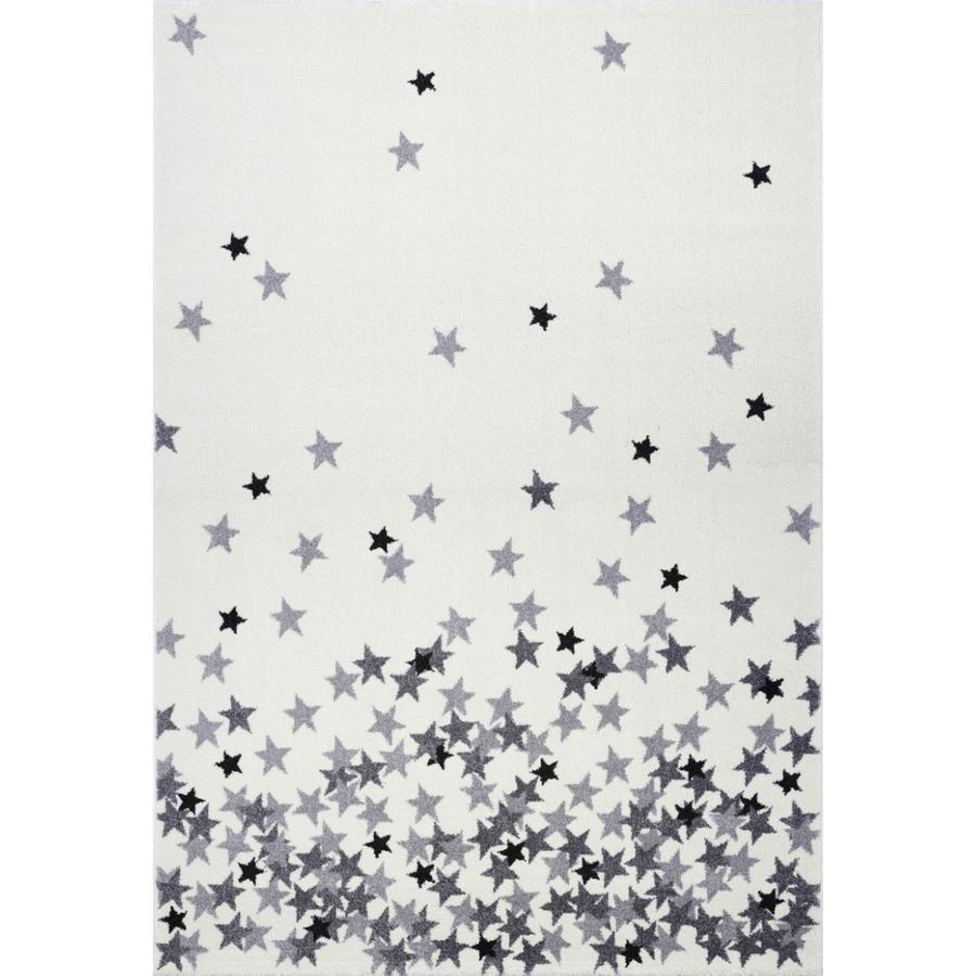 LIVONE Spiel- und Kinderteppich Kids Love Rugs - Sternenregen creme/silbergrau, 160 x 220 cm