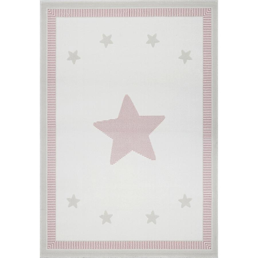 LIVONE Spiel- und Kinderteppich Kids Love Rugs - Princess creme/rosa, 120 x 170 cm