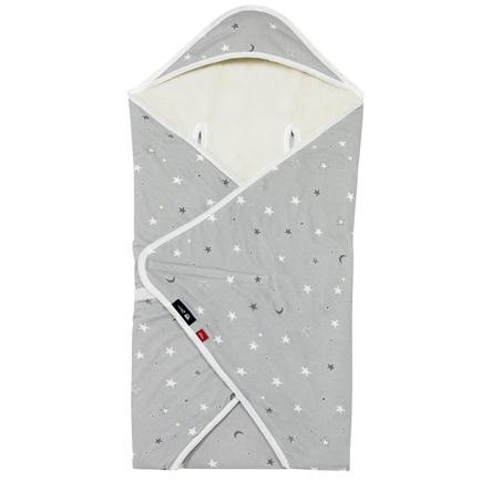 s.Oliver by Alvi zavinovací deka Hvězdičky, šedá neonová 80 x 80 cm