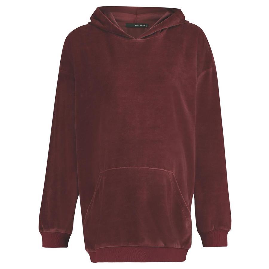 SUPERMOM gravid Sweater Hoodie Dark Rose