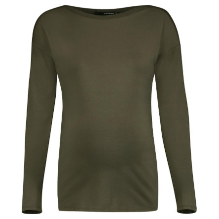 SUPERMOM Langarmshirt Basic Army