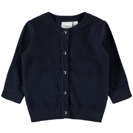 name it Boys Cardigan Namik dark sapphire