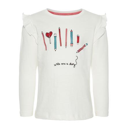 name it Girls Langærmet skjorte Nmfnanaja snow white