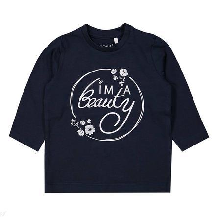 name it Girl s overhemd met lange mouwen Luna donker saffier