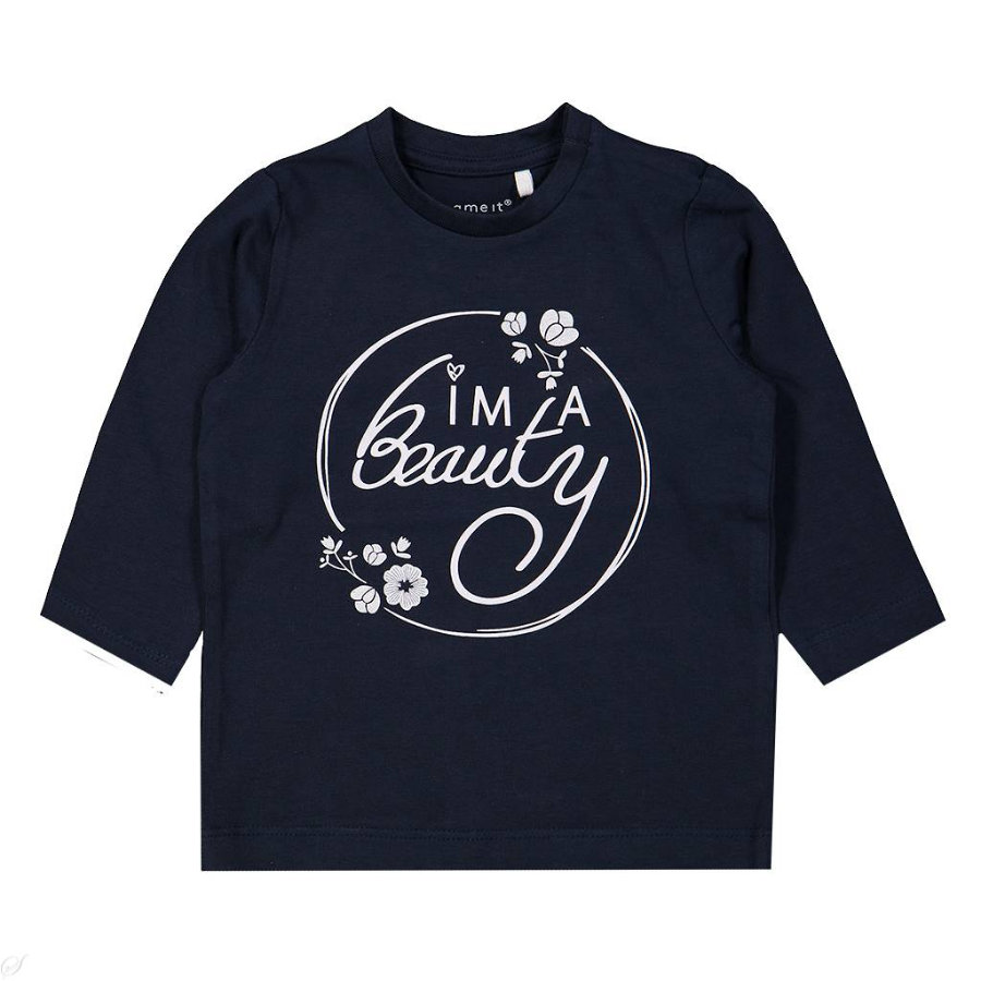 name it Girls Langarmshirt Luna dark sapphire