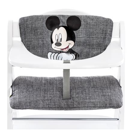 hauck Polstrování do jídelní židličky de luxe Mickey grey