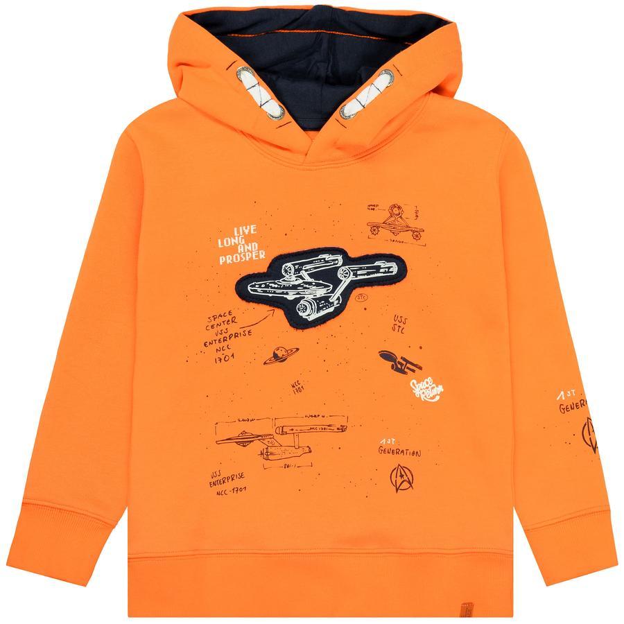 STACCATO Boys Bluza bluza z kapturem pomarańczowa