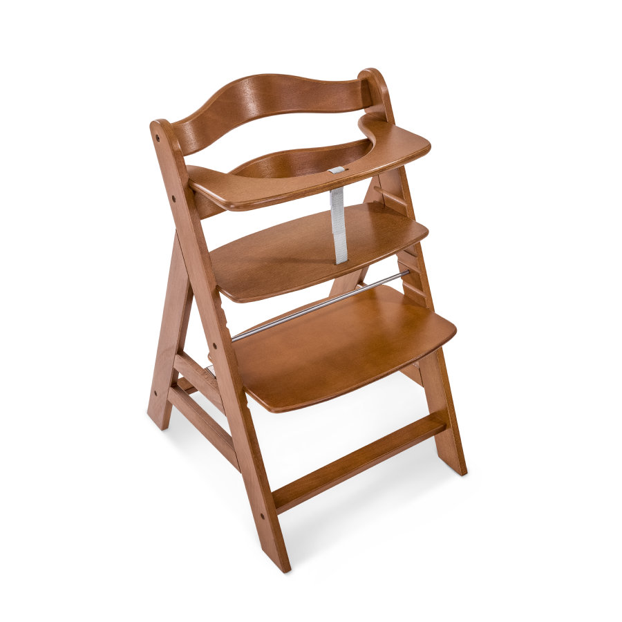 hauck Chaise haute Alpha Plus, walnut