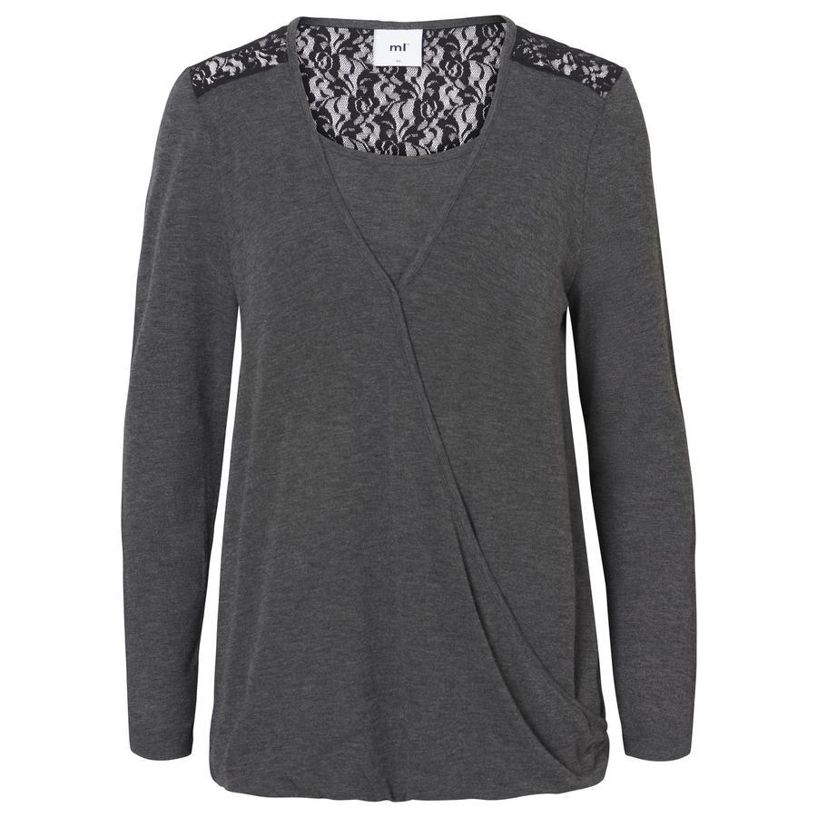 mama licious amningskjorta MLJANE Dark Grey Melange
