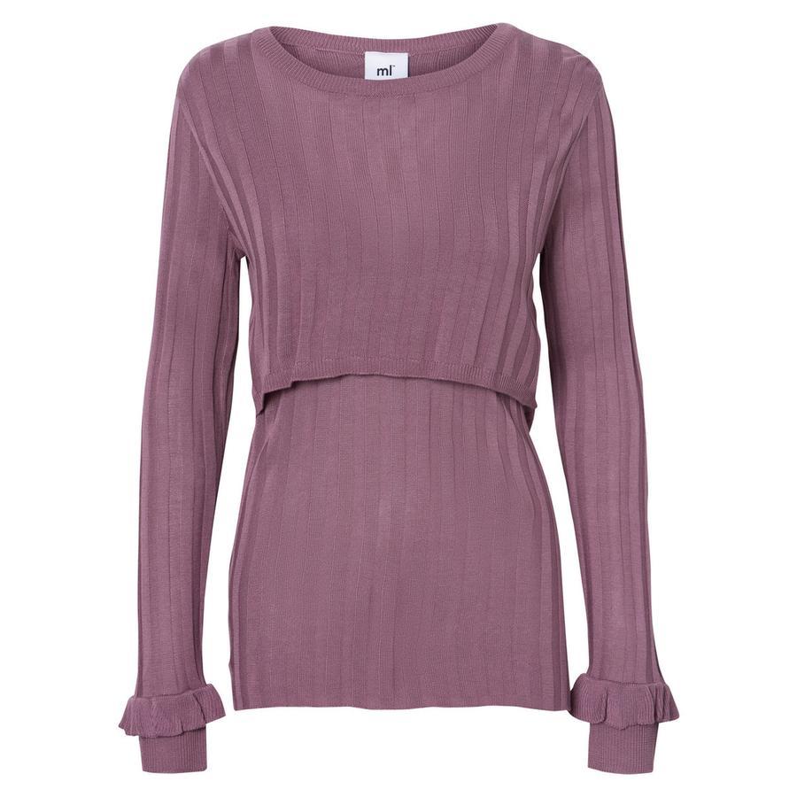 mama licious Camisa de manga larga MLZANNE Elderberry