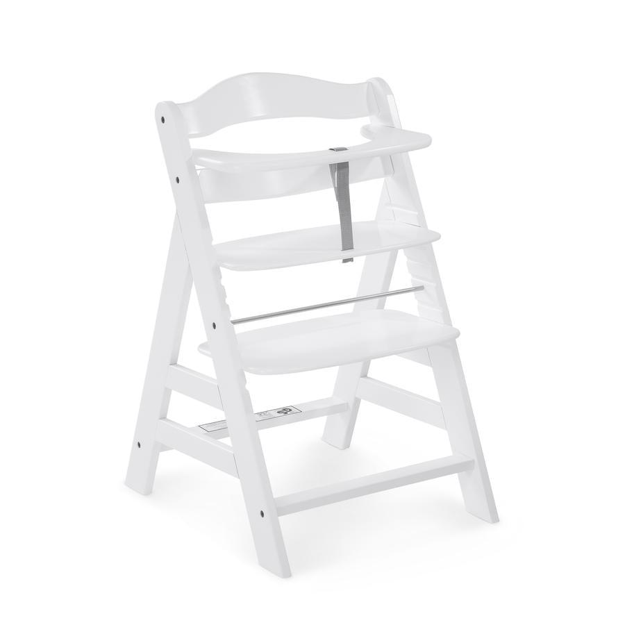 hauck Chaise haute enfant évolutive Alpha Plus bois, blanc