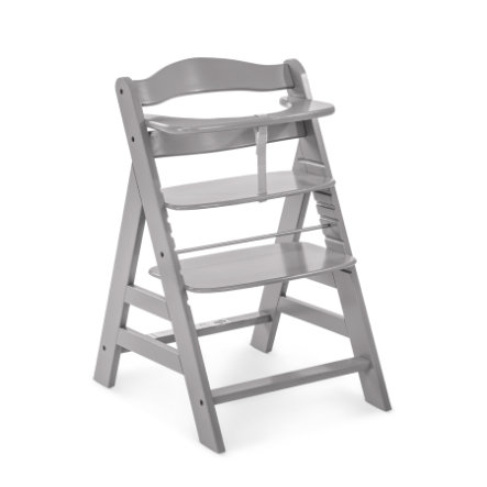 hauck Chaise haute enfant évolutive Alpha Plus bois, gris