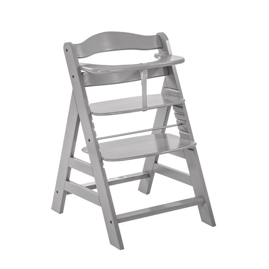 Hauck Alpha+ 2018 židlička dřevěná grey