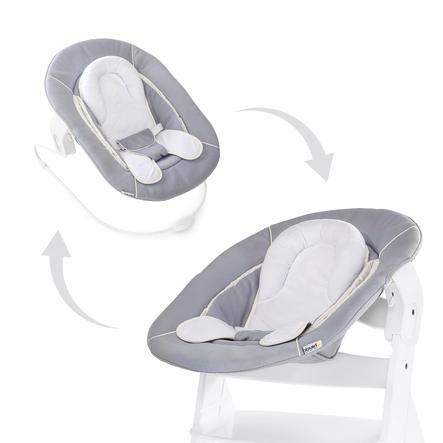 hauck Transat balancelle bébé Alpha pour chaise haute évolutive 2en1 stretch gris