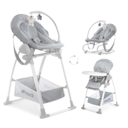 hauck Chaise haute bébé évolutive Sit'n Relax 3en1 stretch gris
