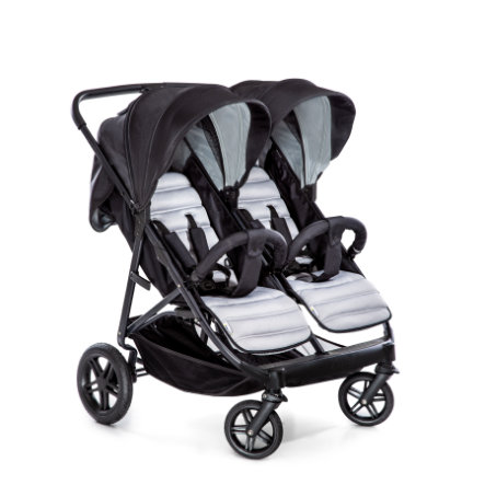 hauck Syskonvagn Rapid 3R Duo Silver / Charcoal