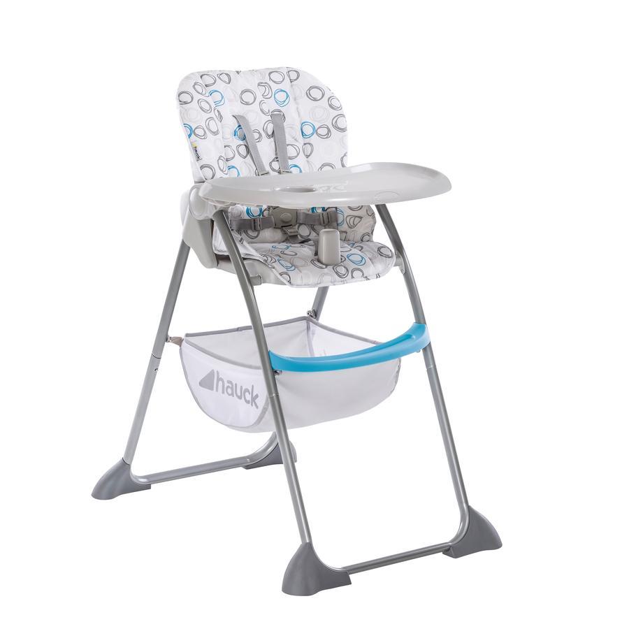 hauck Chaise haute bébé Sit'n Fold cercles bleu