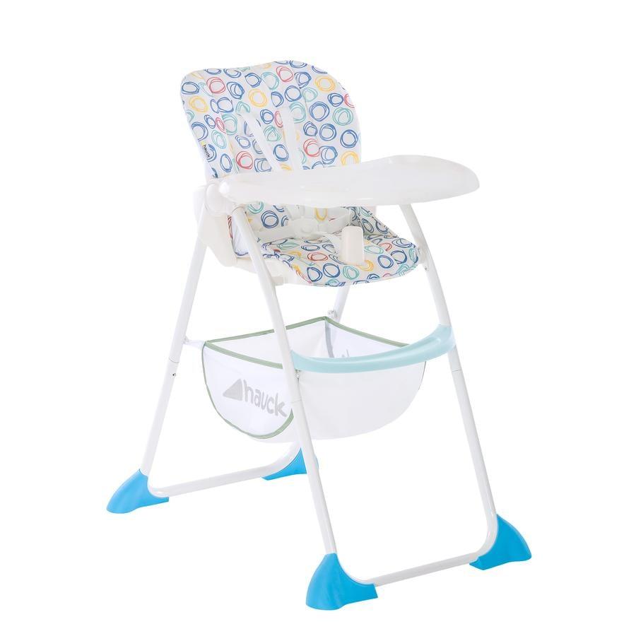 Hauck Sit N Fold 2019 jídelní židlička circles multi