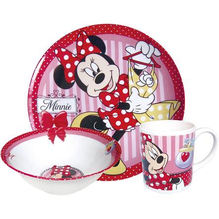 p:os Frühstücksset aus Porzellan Minnie Mouse 3-teilig