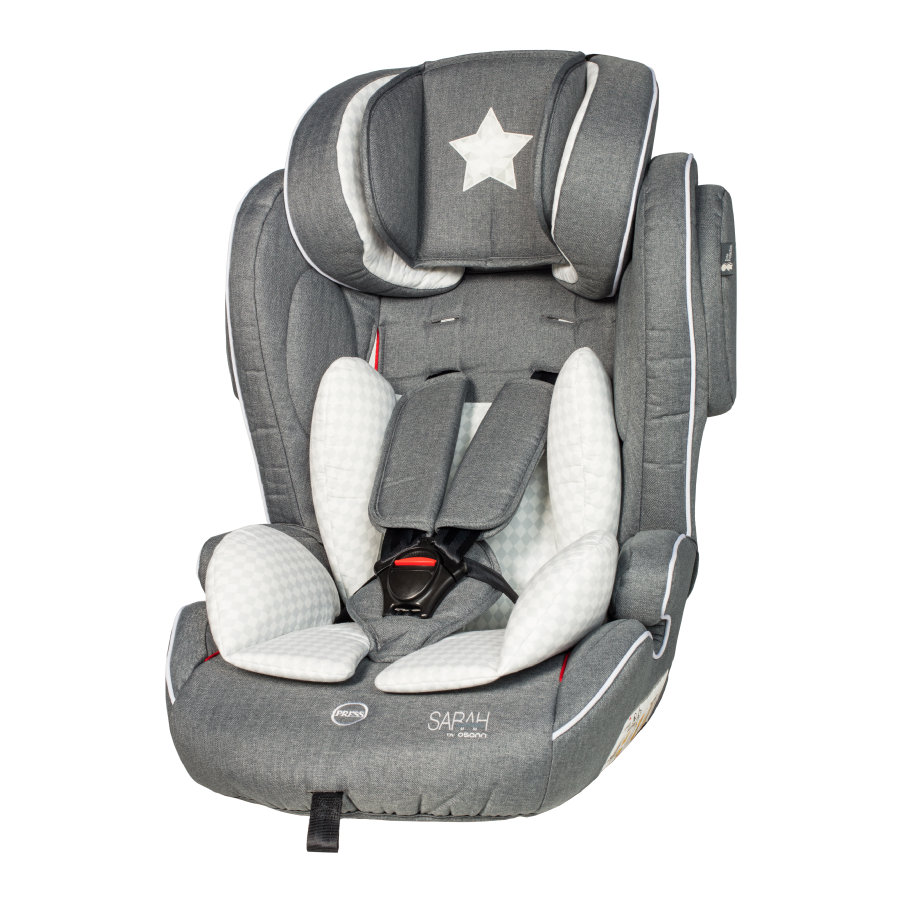 osann Bilbarnstol Flux Isofix Star - grey by Sarah Harrison