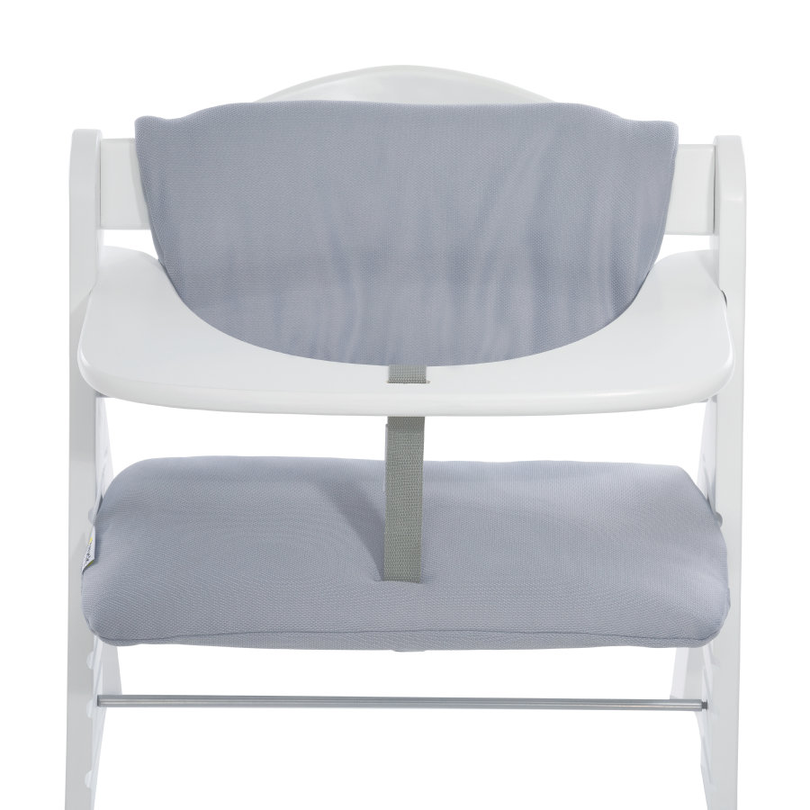 hauck Coussin d'assise chaise haute Deluxe Stretch gris