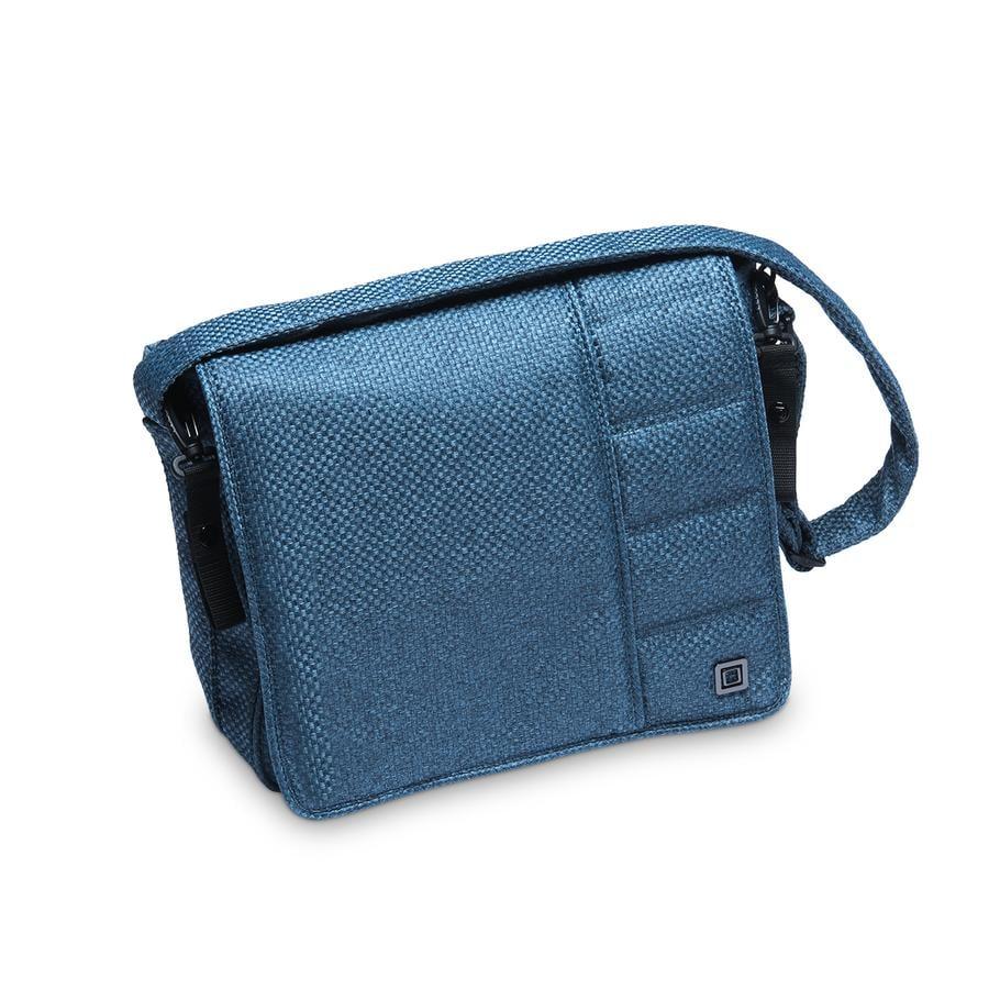 MOON Bolso de pañales azul/panamá