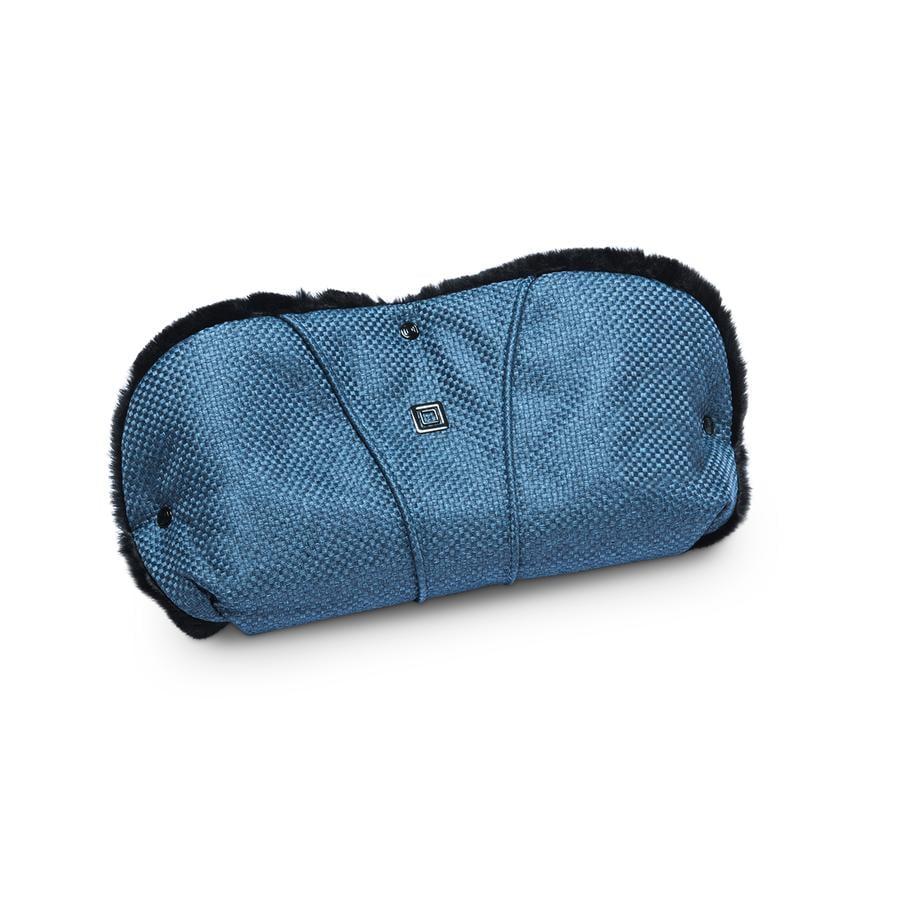 MOON Protège-mains pour poussette bleu/panama