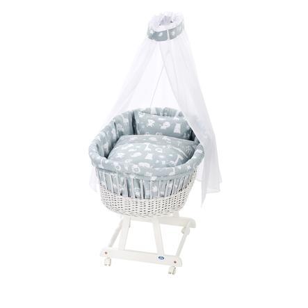 Alvi® Moseskorg Birthe vit 911-1 Zoodjur blå