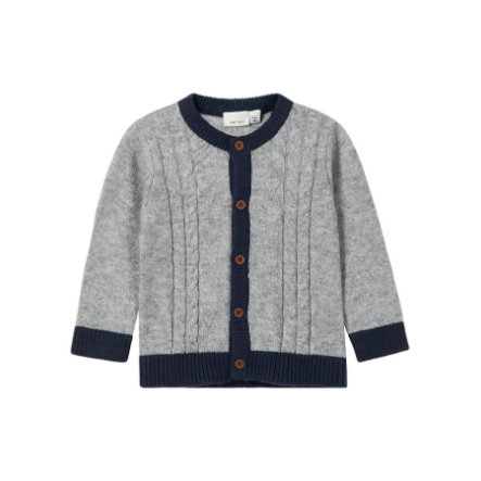 name it Boys Cardigan Olrik grey melange