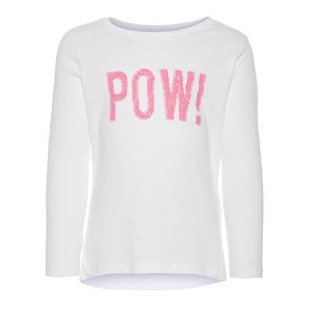 name it Girl s Koszula z długim rękawem Nmfveen jaskrawo-biała